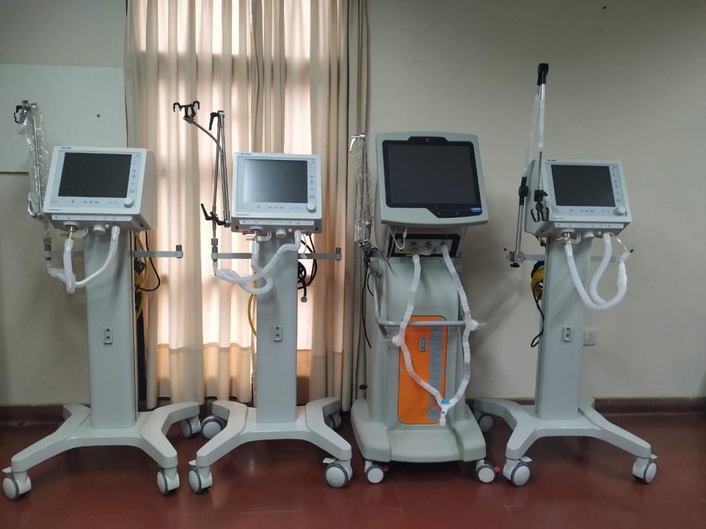 Con una nueva entrega, el Hospital San José llegó a los 31 respiradores