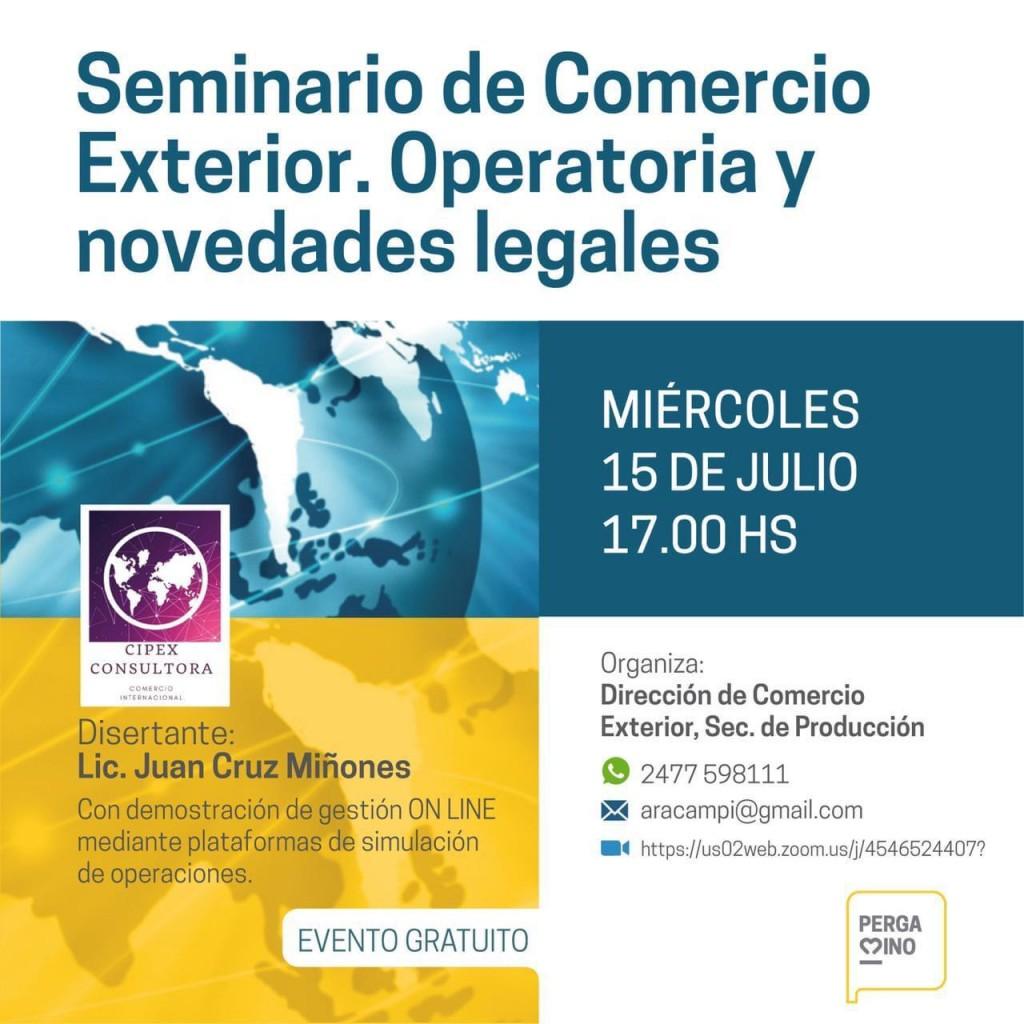 Llega otro seminario online de comercio exterior