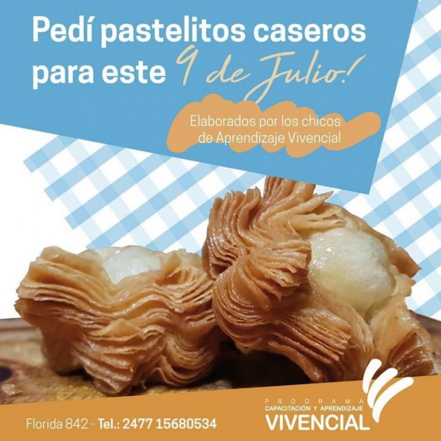 Pastelitos caseros para este 9 de julio, hecho por los jóvenes del Programa Aprendizaje Vivencial