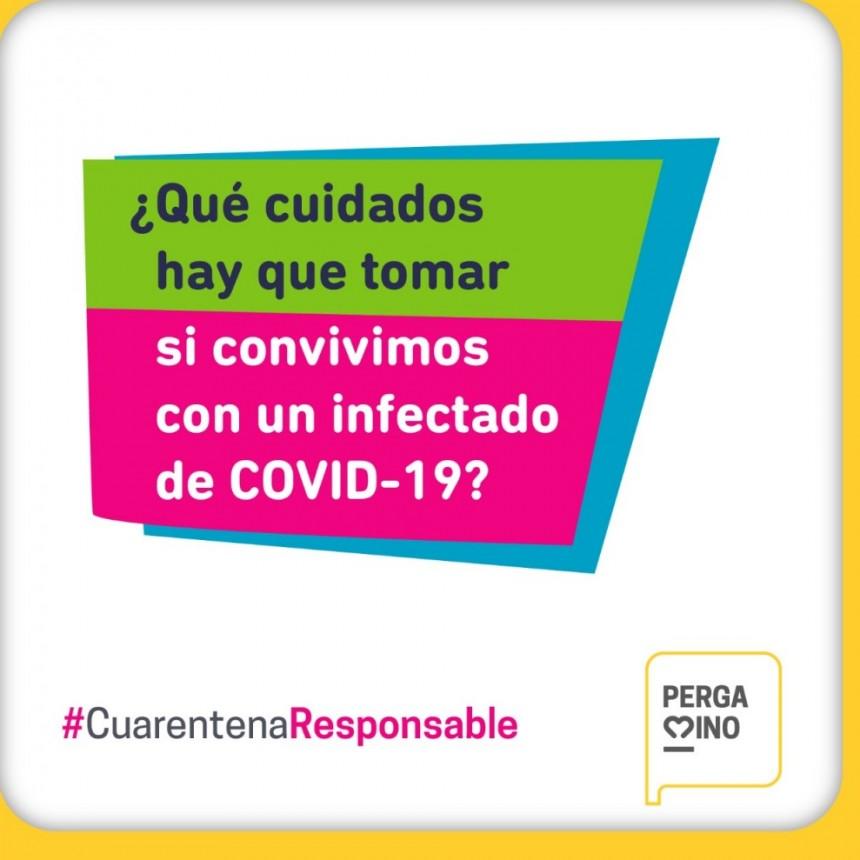 Recomendaciones para quienes convivan con una persona con COVID-19