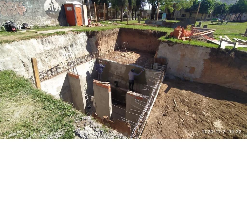Se colocó la cañería que alimentará a la nueva Cisterna de San Luis y Montevideo