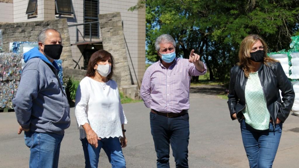 Javier Martínez y Susana Lázzari visitaron el Taller Protegido